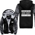 2017 new jacket Parental Advisory Explicit Content sweatshirt men casual zippter fleece hoodies autumn winter hipster tracksuits