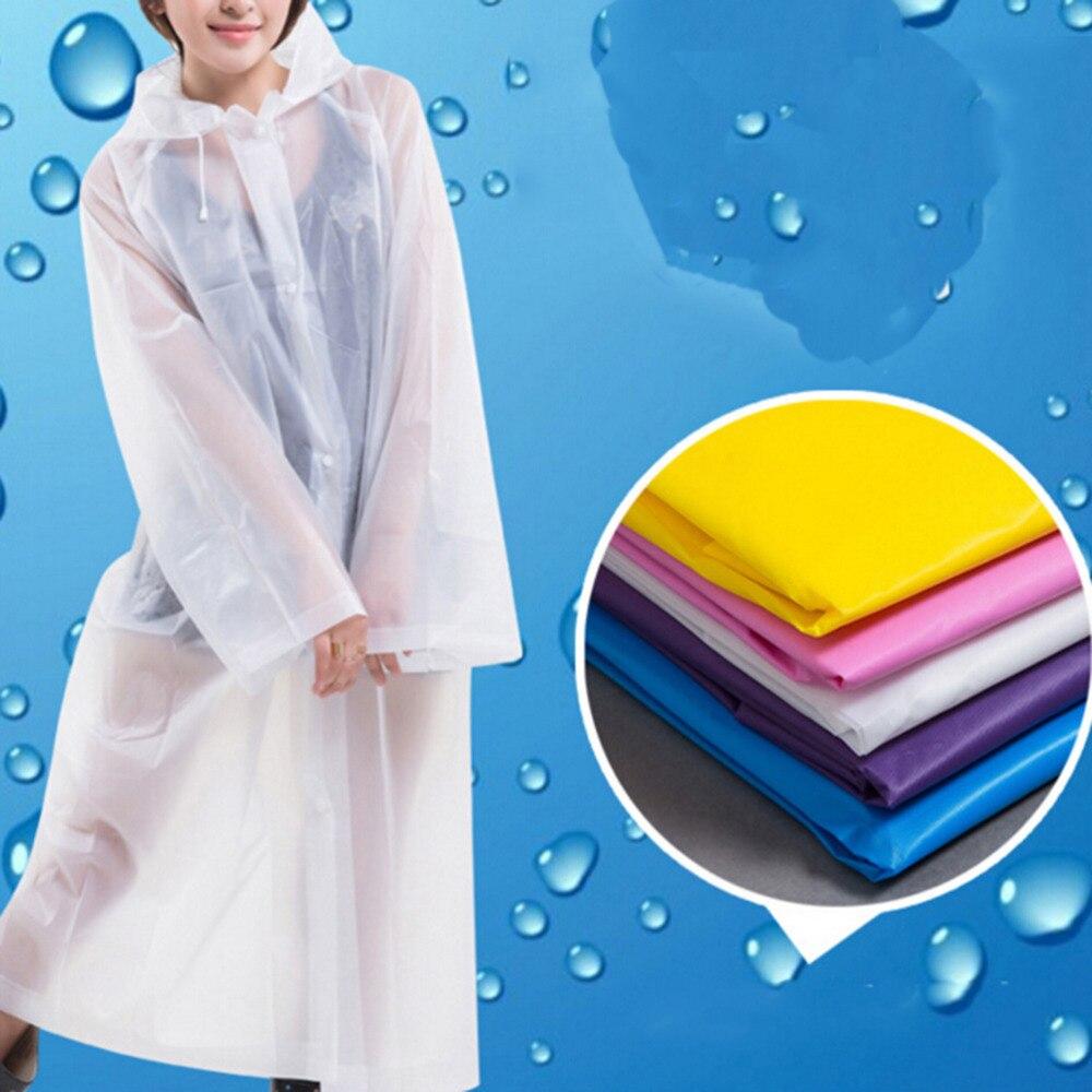Long Use Rain Coat Women EVA Transparent Raincoat Poncho Portable Environmental Light Raincoat