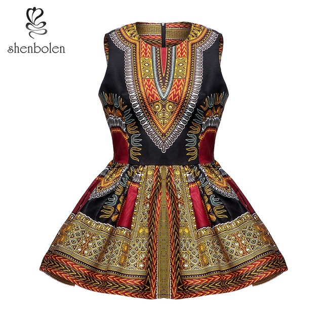 shenbolen African Clothes for Women Dashiki Fashion Top Traditional Shirt  Summer T- shirt Cotton Wax e91b214d35cc