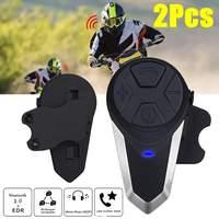 2Pcs BT S3 Motorcycle Helmet Intercom Moto Helmet bluetooth Headset Waterproof Intercomunicador BT Interphone FM