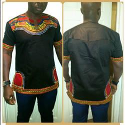 Африка одежда 2019 горячая распродажа Новое поступление спандекс Мужская футболка мужская одежда Дашики