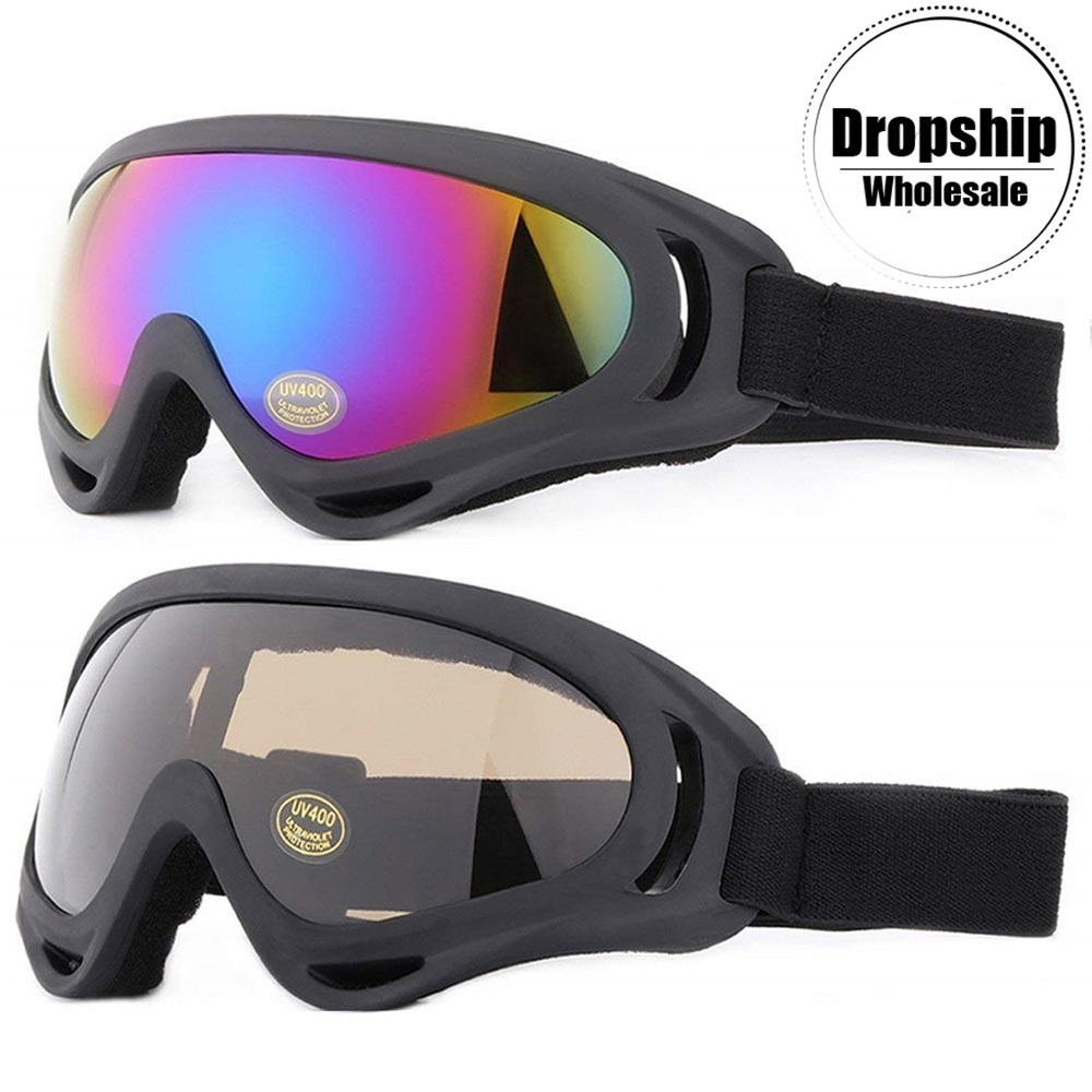 Winter Snowboard Ski Goggles For Men Women UV400 Windproof Sunglasses Sports CS Airsoft Glasses Skiing Snowmobile Anti-fog Lens