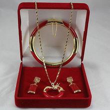 Ювелирные изделия, красивый нефритовый браслет, кулон и серьги, набор> покрытые часы, торговля, кварцевый нефрит, CZ Кристалл