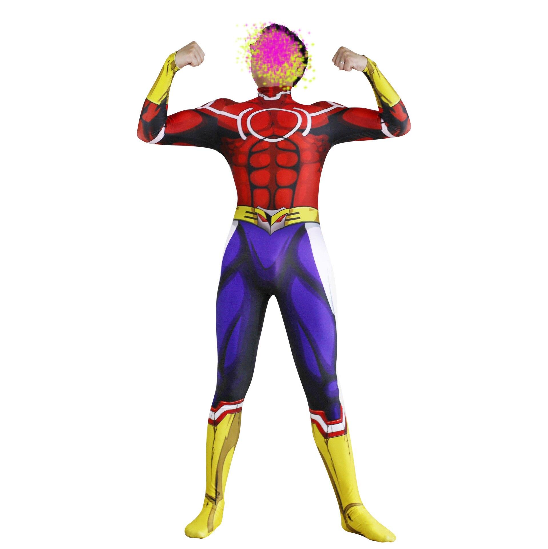 All Might Costume My Hero Academia Boku no Hero Academia 3D Print Lycra Ladys Zentai Bodysuit Suit