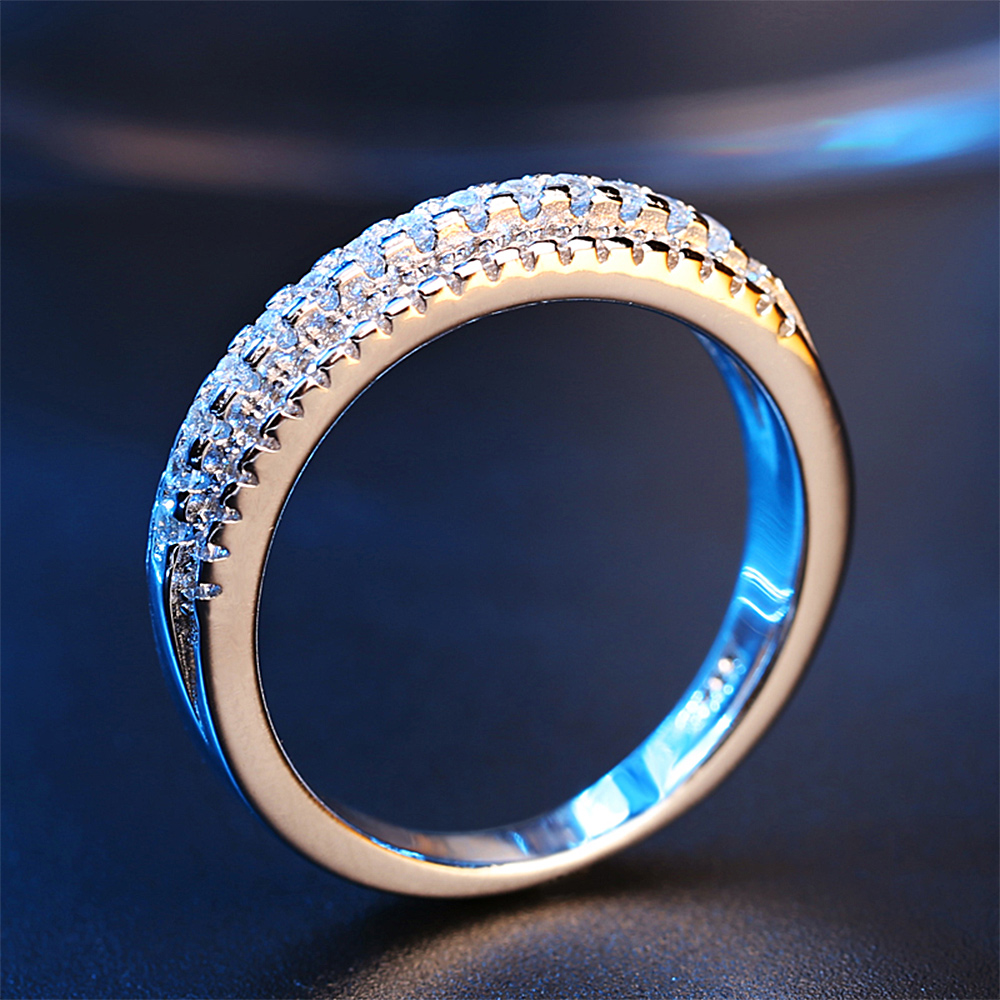 Jardme Wedding Rings for Women Cubic Zirconia Men Jewellery Female Silver 925 Jewelry Engagement Ring