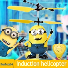 HOT toy Best Price The Most Funny Toy Remote Control RC Despicable Me Minion Helicopter Kids Toy Despicable Me Christmas gift