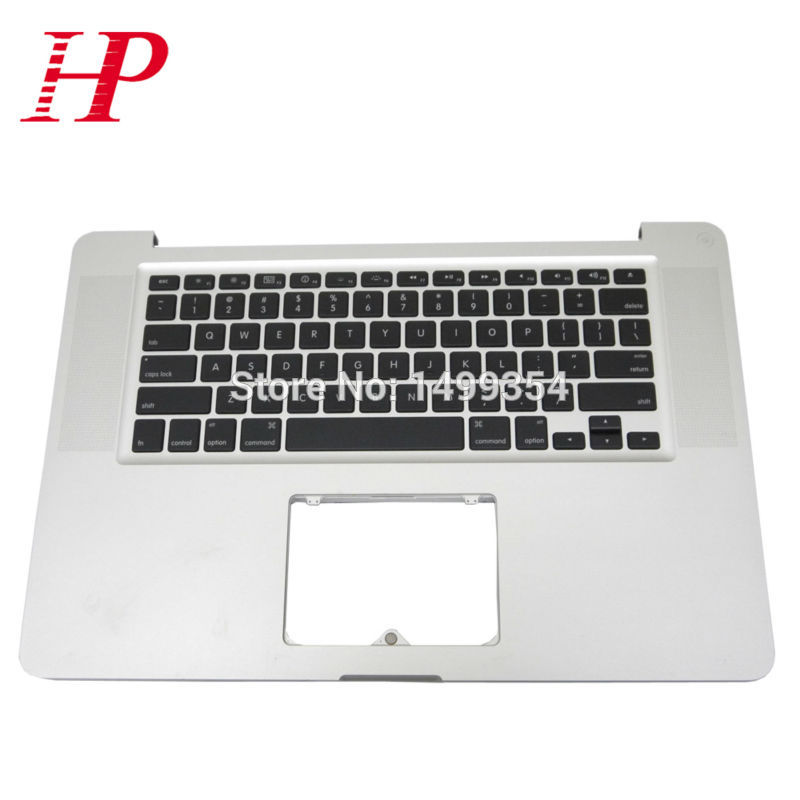 Genuine A1286 Topcase Palm Rest With Keyboard For Apple Macbook Pro 15'' A1286 Top case Palmrest With US Keyboard MC371 372 373 po layout palmrest white color topcase for a1181 full keyboard topcase with poland keyboard for apple macbook 13