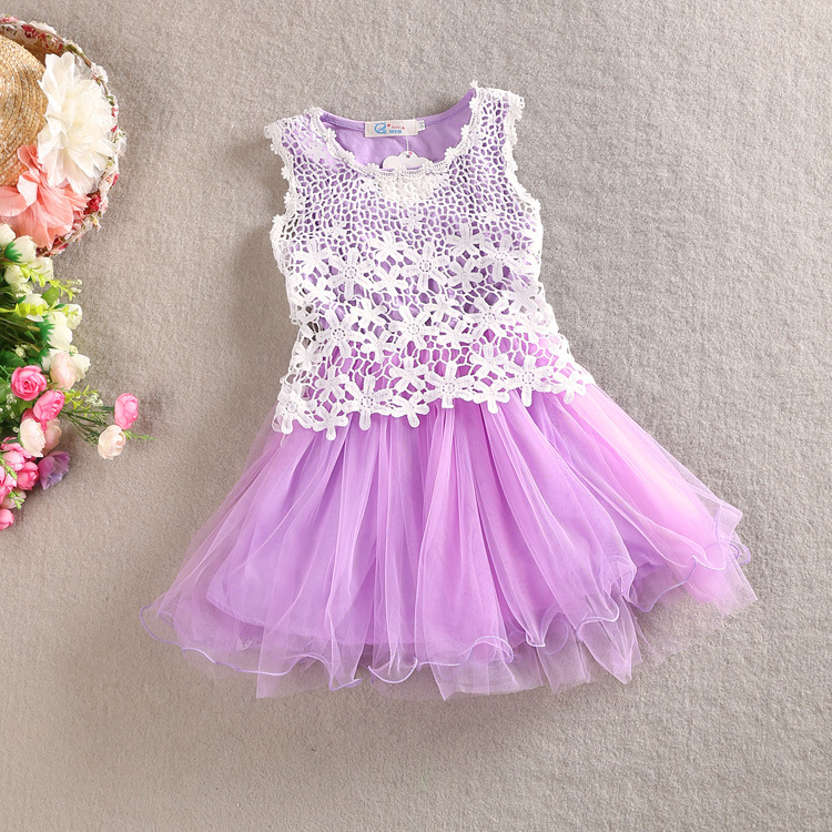 Free Shipping European Style Fashion Fancy Design Tulle: HIHEART 2016 Baby Girls Hollow Flower Tutu Dress Children