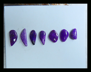Natural Stone Sale 7Pcs Sugilite Cabochon Set,14x5x2mm,9x5x4mm,2.92g Fashion Purple Color Jewelry Accessories