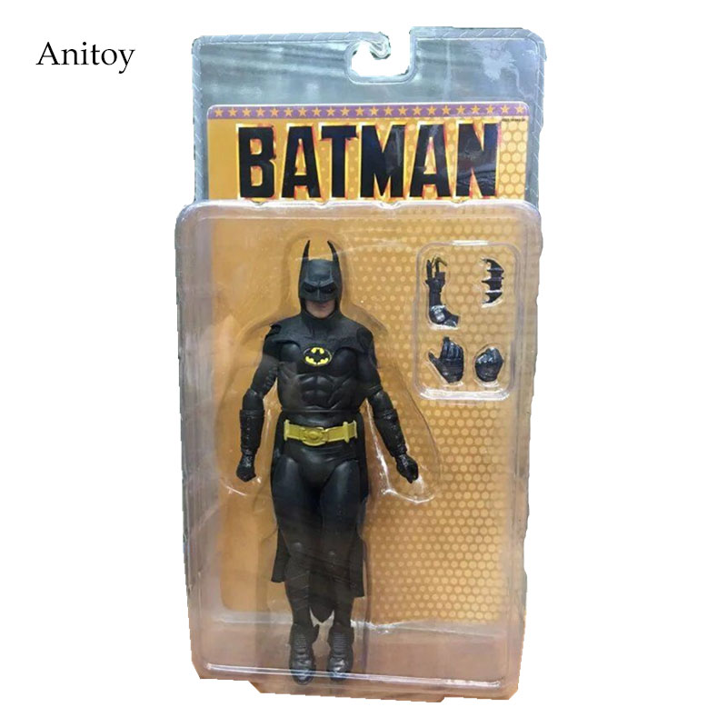 NECA 1989 Batman Michael Keaton 25th Anniversary PVC Action Figure Collectible Model Toy 18cm KT2974 neca batman begins bruce wayne joint movable pvc action figure collectible model toy 7 18cm