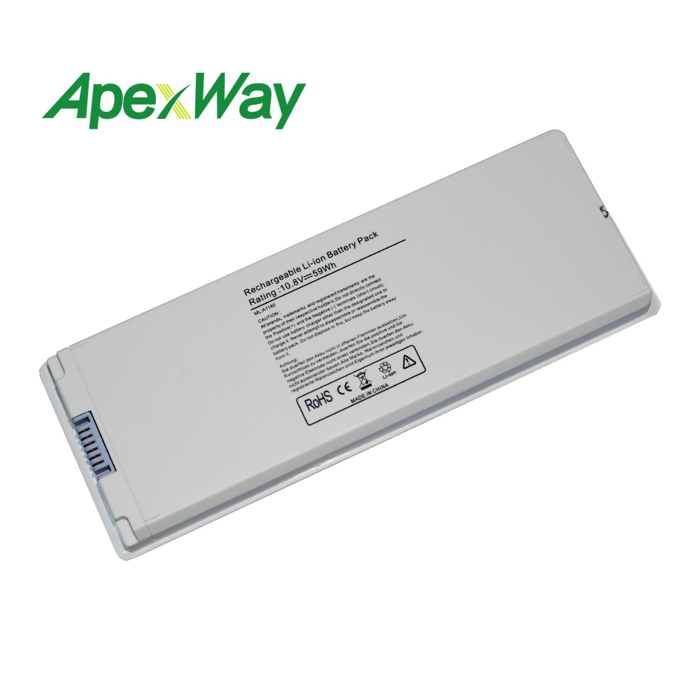 ApexWay Silver 59Wh Laptop Battery for font b Apple b font A1185 A1181 For font b