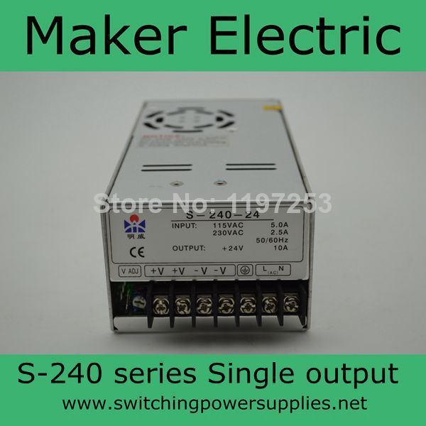 цена на factory direct hot sale Single Output Switching power supply 7.5v 30a 240w S-240-7.5