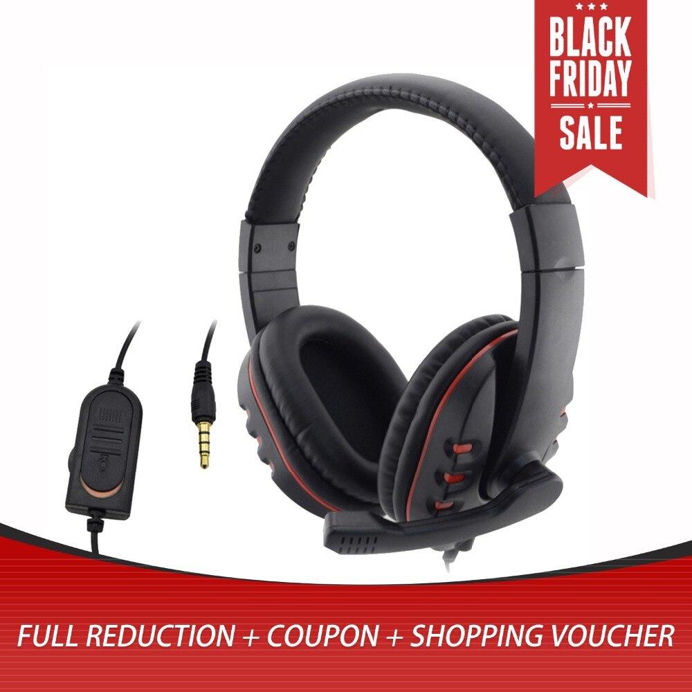 Heiße Neue Wired 3,5mm gaming Headset Kopfhörer Kopfhörer Musik Mikrofon Für PS4 PlayStation 4 Spiel PC Chat fone de ouvido