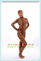 Darmowa Dostawa! Nowy Leopard Lycra Elastan Otwórz Twarzy Garnitur Zentai Halloween Cosplay Costume, Idealne dostosowane dla ciebie!