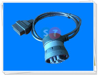 Elbow design J1939 German round head, 9 pin with lock, turn OBDII16 pin, female head connection line, OBD extension line