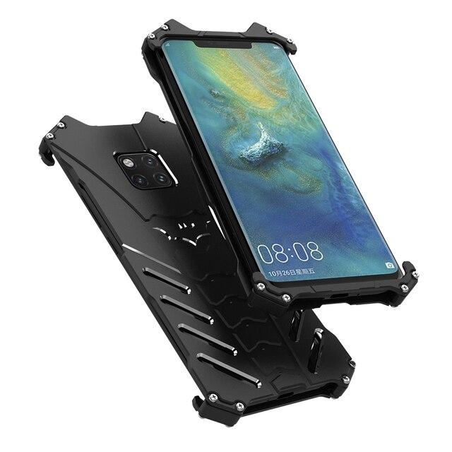 Luksusowe Heavy Duty BATMAN Metal aluminium telefon etui na Huawei Mate 20 x Mate 20 P20 Pro Nova 3 4 V20 mate 20 Lite pokrywa