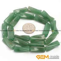 9x20mm twist spalte aventurin jad perlen naturstein perlen lose perlen für schmuck machen strang 15 zoll großhandel!