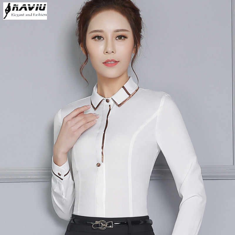 good new collection official photos High quality clothes women shirts fashion OL business formal ...