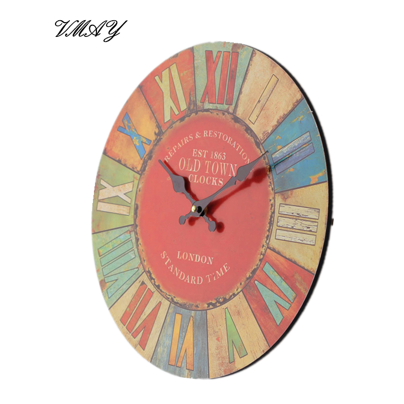 Roman Numerals Wall Clock Classical Coloured Drawing Density