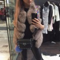 2016 Lady Fashion Natural Whole Real Fox Fur Gilet Vests Women's Real Fur Waistcoat Winter Thick Warm Overcoat Girl Fur Vest
