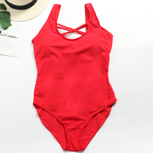 A&J 2019 Women One Piece Hollow Solid Color Bikini Large Big Size Breast Padded Fat Lady XL-3XL CQ 1871