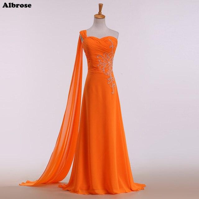 26d4d23fa6e44 البرتقالي مثير شاطئ فستان السهرة اتو قطار مطرز فساتين السهرة الطويلة الشيفون  اللباس الرسمي الدانتيل يصل