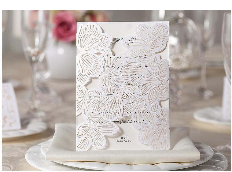 2015 New Laser Cut Pocket Invitation Card Lined Envelope - Picky Bride Wedding Invitations Store store
