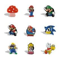 9pcs Super Mario Game Character Magnetic Fridge Decorative Magnet Stickers Refrigerator Souvenir Item Party Favor Gift for Kids