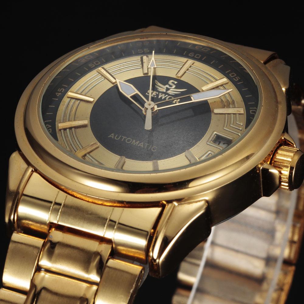 Prix pour Casual sewor marque design de mode de luxe mâle en acier d'affaires squelette automatique mécanique hommes montre-bracelet militaire cadeau horloge
