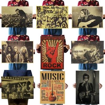Nostalgic Rock Band Posters