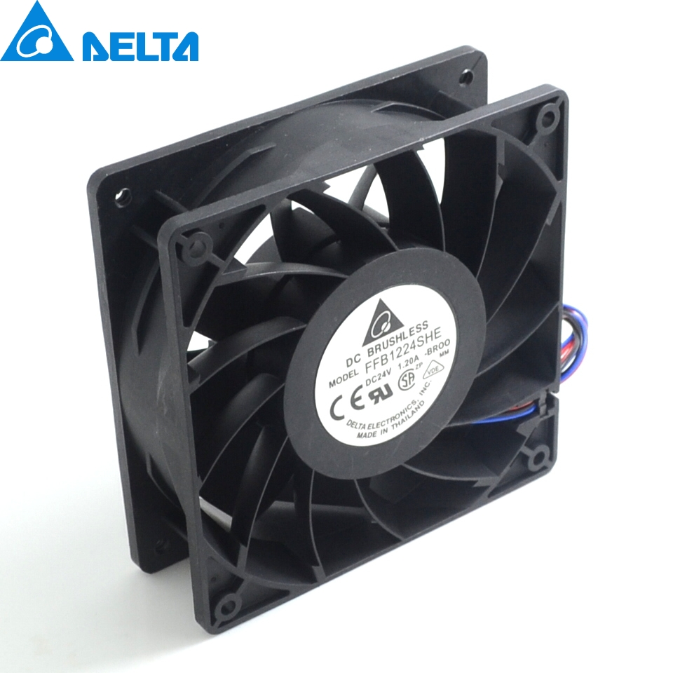 New Furniture in 12038 FFB1224SHE 24 v 1.20 big air volume converter cooling fan for  120*120*38mm computer water cooling fan delta pfc1212de 12038 12v 3a 12cm strong breeze big air volume violent fan