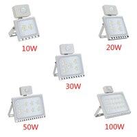 1 шт. ультратонкие Сенсор Светодиодный прожектор 220 V 10 W 20 W 30 W 50 W 100 W IP65 Водонепроницаемый осветительная лампа для наружного применения, влаг...