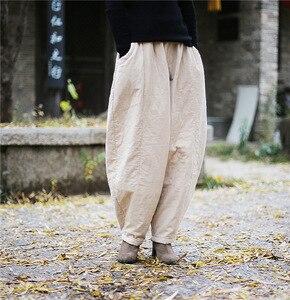 Image 2 - YoYiKamomo 2018 hiver femmes lâche pantalon épais chaud coton rembourré Harem pantalon solide couleur élastique couleur grande taille femmes pantalon