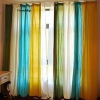 Custom Made Pure Cotton Linen Curtains American Country Style Cloth Curtain For Living Room Cortinas Sheer Tulle Fabric