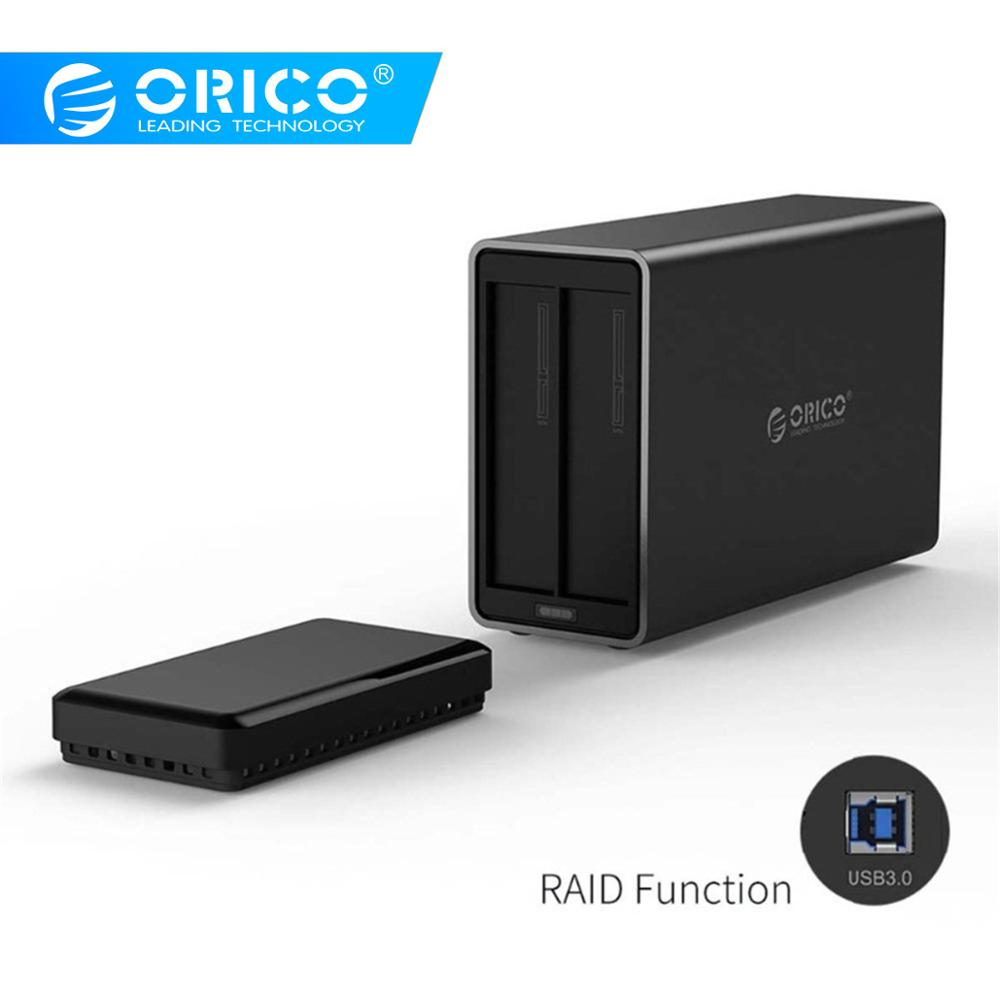 ORICO Raid 3.5 USB3.0 Aluminum Hard Drive Disk External Enclosure USB3.0 To SATA3.0 HDD Case Support 5Gbps UASP 12V4A 20TB