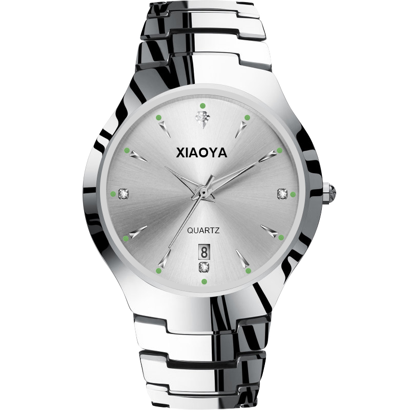 XIAOYA New Ladies Dress Rhinestones Watch Mens Watches Top Stainless Steel Wrist Watches Relojes Hombre 2018 Clock For Lover's