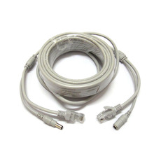 40M 130ft RJ45 Cat5e Video Network IP Cable & 12V DC Power Cable Combine Wire 40m for IP Camera