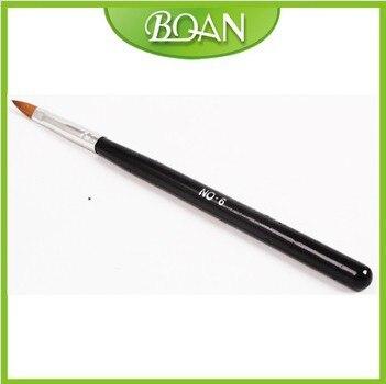 100% Pure Kolinsky sable acrylic nail brush product nail acrylic brush natural hair #6 Free shipping
