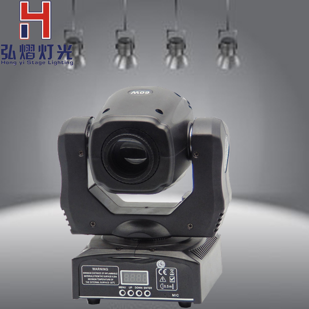 (1 pieces/lot) 60W Moving Head Spot Led Stage Light DMX 11CH rotating & static gobo projector moving head spot effect