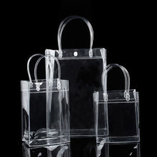 2018 New handbag Fashion High Quality Casual Organizer Shoulder Bag Clear Transparent Shopping Bag 1PC Sotrage Bag(China)