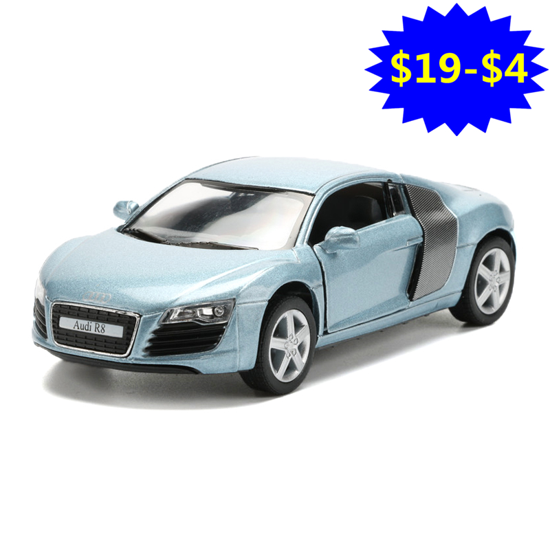 1:36 Scale 2018 Miniature Model Car Toy, Simulation Die cast & ABS R8 Cars For Collection, Kids Toys, Juguetes Vehicle