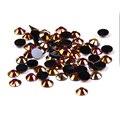 Oro Negro AB Rhinestones de la Resina 1000 unids 2-5mm Flatback Redondo Hotfix Pegamento En Diamantes DIY Uñas Cajas Del Teléfono del arte Decoraciones