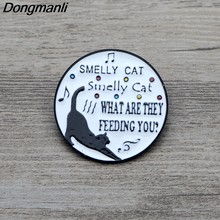 L3271 Friends TV Show Cat Pins Funny Metal Brooches and Pins Enamel Pin for Women Backpack Badge Brooch T-shirt Collar Jewelry(China)