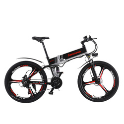 Wysokiej jakości 26 Cal składane e-bike  48V 350W silnik  21 prędkości rower elektryczny  hydrauliczny hamulec tarczowy  podwójnego zawieszenia