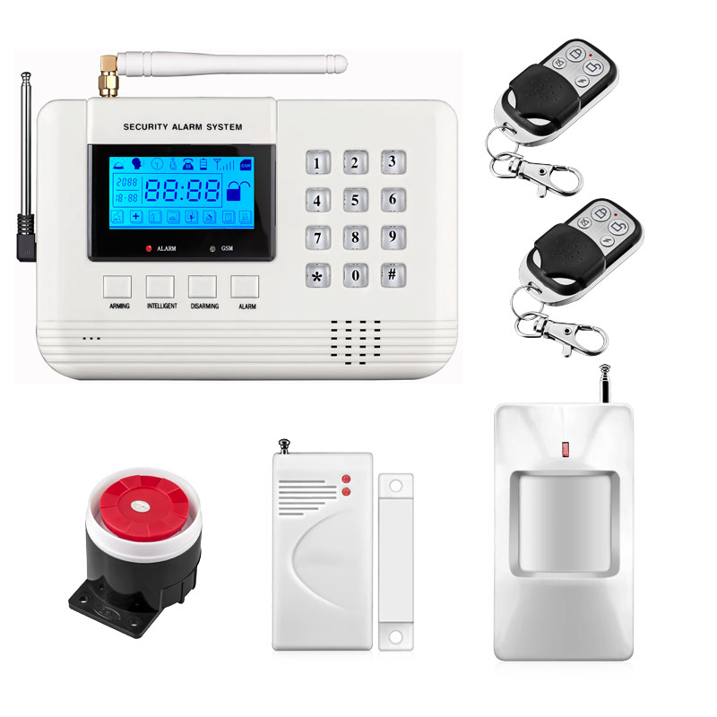 Dual Network Wireless LCD GSM PSTN Home Alarm Security DIY House Home Burglar Security 433Mhz English/Russian/Spanish Voice free shipping electric kettle automatic power off anti scald stainless steel