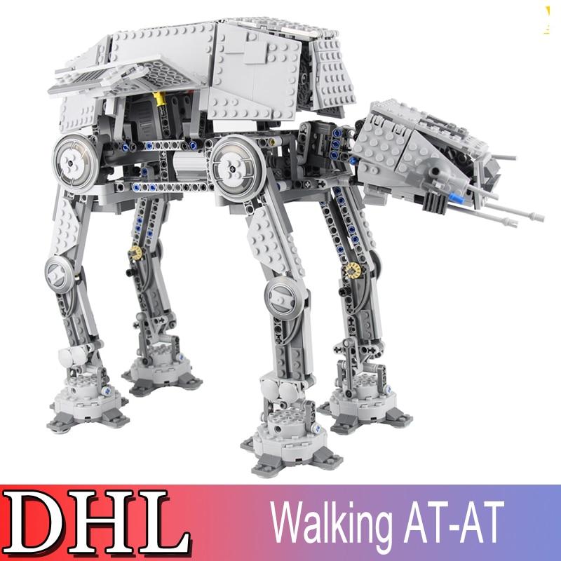 1137Pcs 05050 LEPIN Star Wars Model Building Kits Blocks Bricks Motorized Walking AT-AT Toys For Children Compatible With 10178 конструктор lepin star plan бронированный шагоход at at 1137 дет 05050