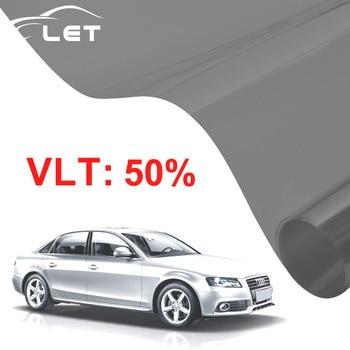 50x300 см темно-черная пленка для окна автомобиля VLT 50% рулон 1 слойный Автомобильный дом Коммерческая Солнечная защита лето