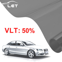 50x300 cm ciemny czarny samochód okno odcień szkła VLT 50% rolki 1 warstwy samochodu Auto House komercyjne do ochrony przed słońcem lato