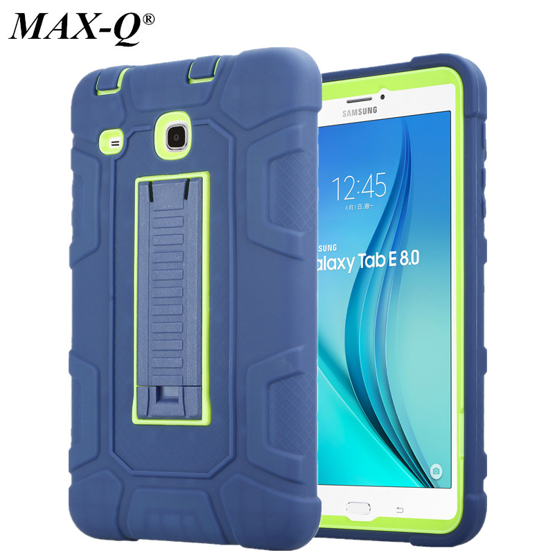MAX-Q For Samsung Galaxy Tab E 8.0 Case Cover Shockproof Heavy Duty Rugged Silicone Case For Galaxy Tab E 8.0 SM-T377 SM-T375