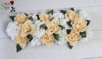 Champán serie 10 unids/lote rosa artificial de la boda bola de la flor para el partido centro de mesa arco de flores de la pared telón de fondo del mercado